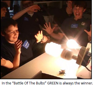 "In the ""Battle Of The Bulbs"" GREEN is always the winner."